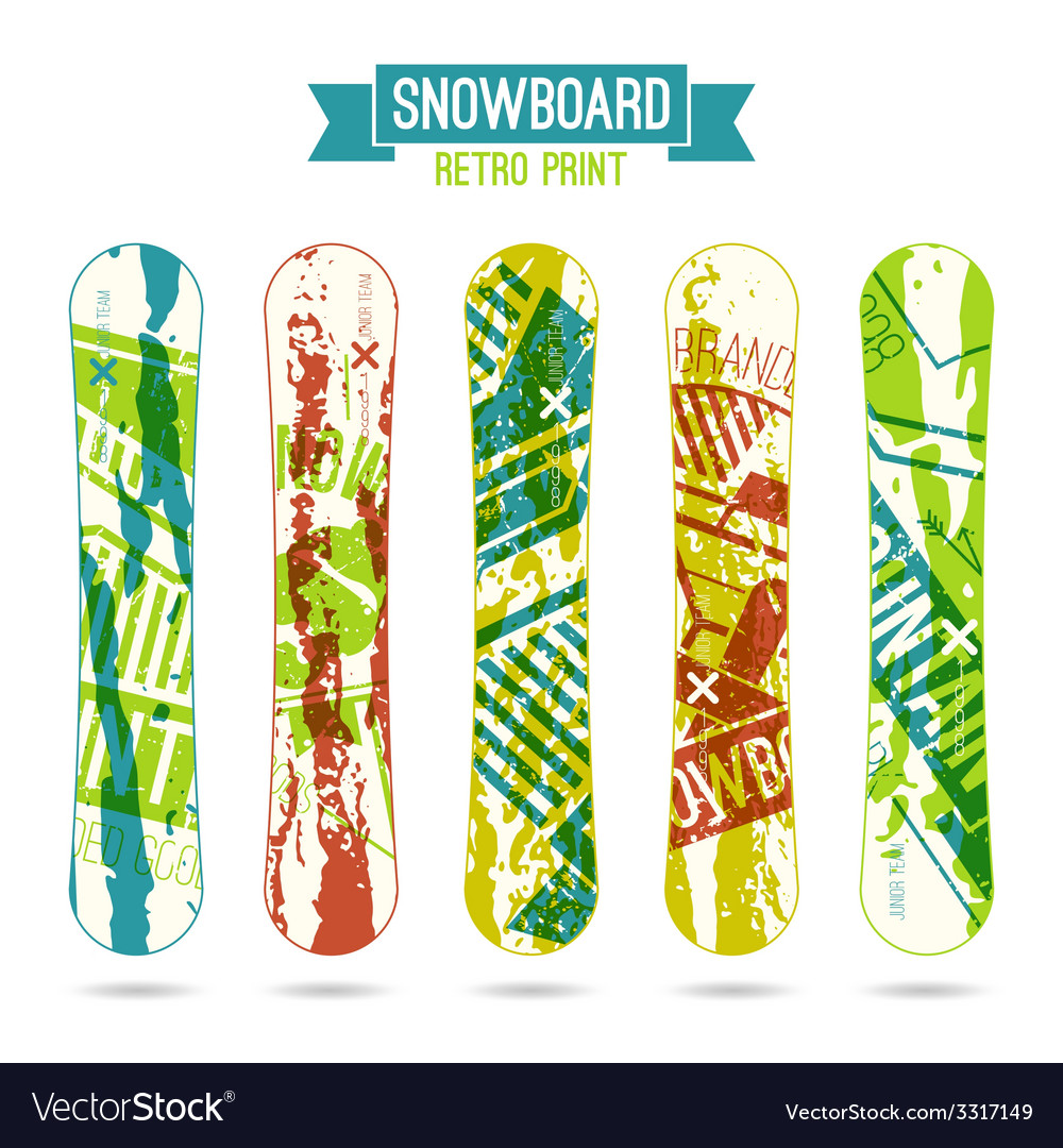 Retro print for snowboard vector | Price: 1 Credit (USD $1)