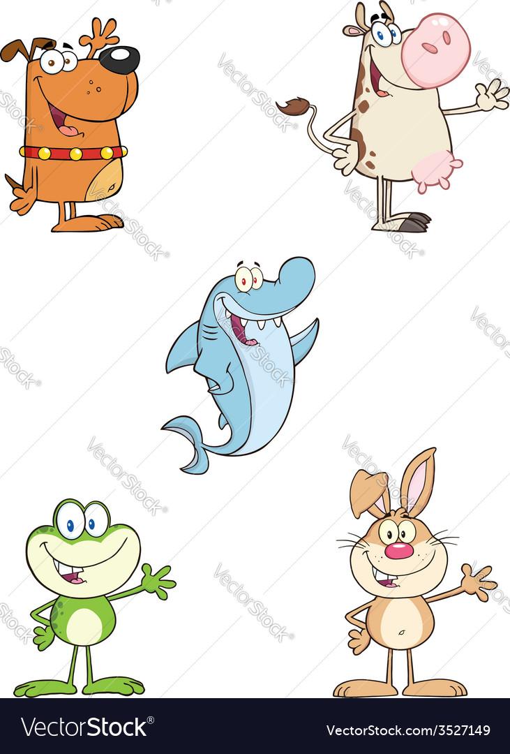 Set of cartoon animals vector | Price: 1 Credit (USD $1)