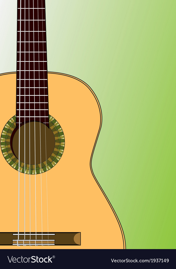 Spanish guitar vector | Price: 1 Credit (USD $1)