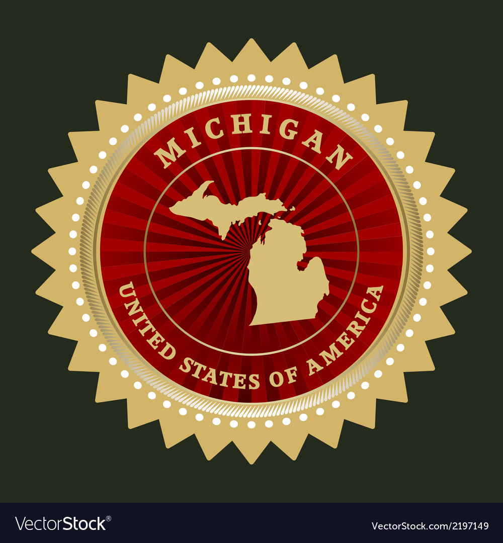 Star label michigan vector | Price: 1 Credit (USD $1)