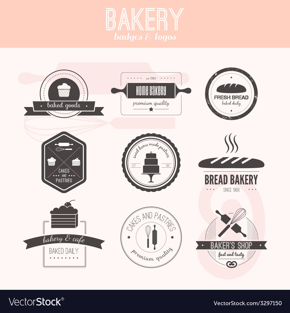 Bakery logos vector | Price: 1 Credit (USD $1)