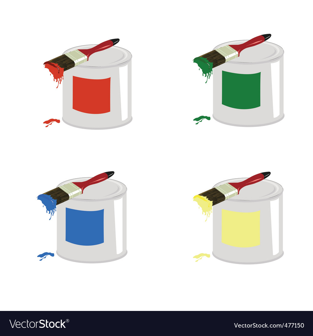 Cans of paint vector | Price: 1 Credit (USD $1)