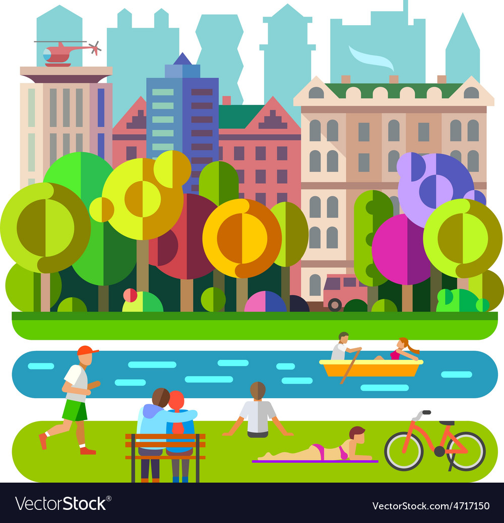 City park vector | Price: 3 Credit (USD $3)