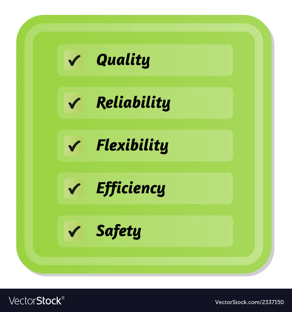 Five priorities of quality vector | Price: 1 Credit (USD $1)