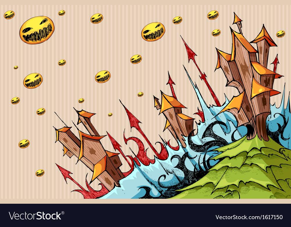 Halloween doodle vector | Price: 1 Credit (USD $1)