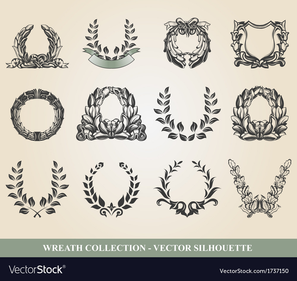 Laurel wreaths vector | Price: 1 Credit (USD $1)