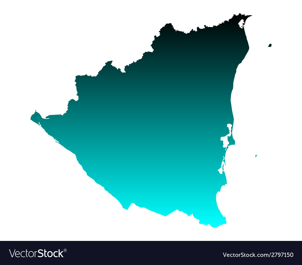 Map of nicaragua vector   Price: 1 Credit (USD $1)