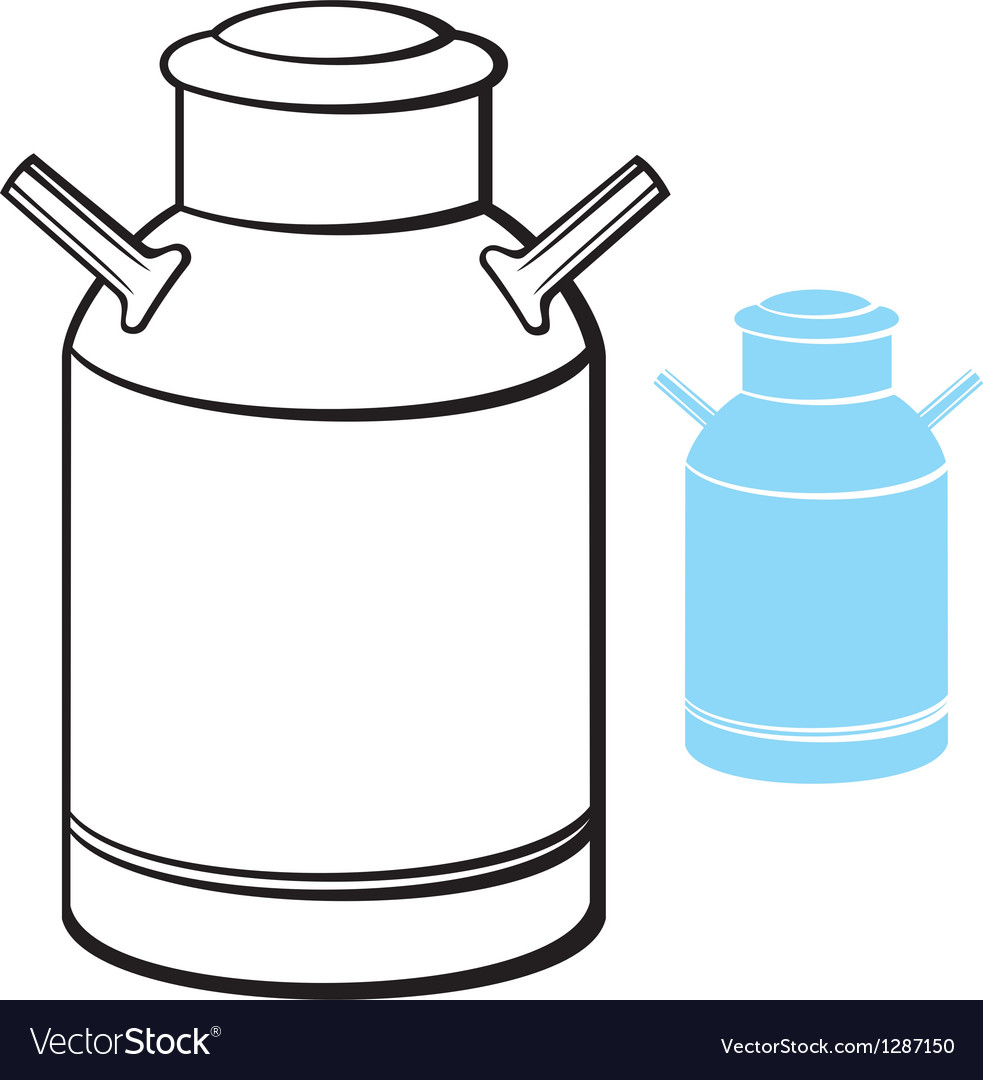 Milk can vector | Price: 1 Credit (USD $1)