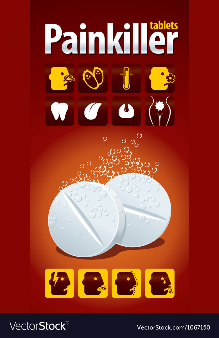 Painkiller tablets vector | Price: 1 Credit (USD $1)