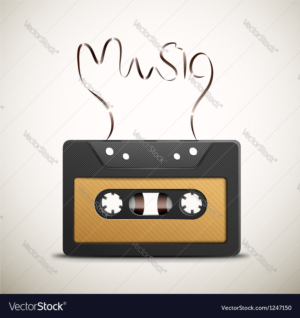 Retro music vector | Price: 1 Credit (USD $1)