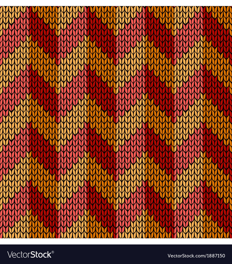 Seamless knit work chevron vector | Price: 1 Credit (USD $1)