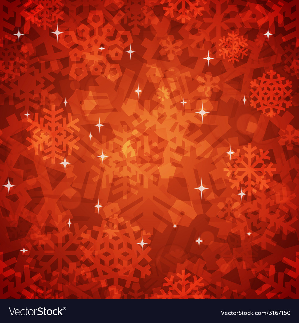 Shiny red snowflakes seamless pattern for vector | Price: 1 Credit (USD $1)