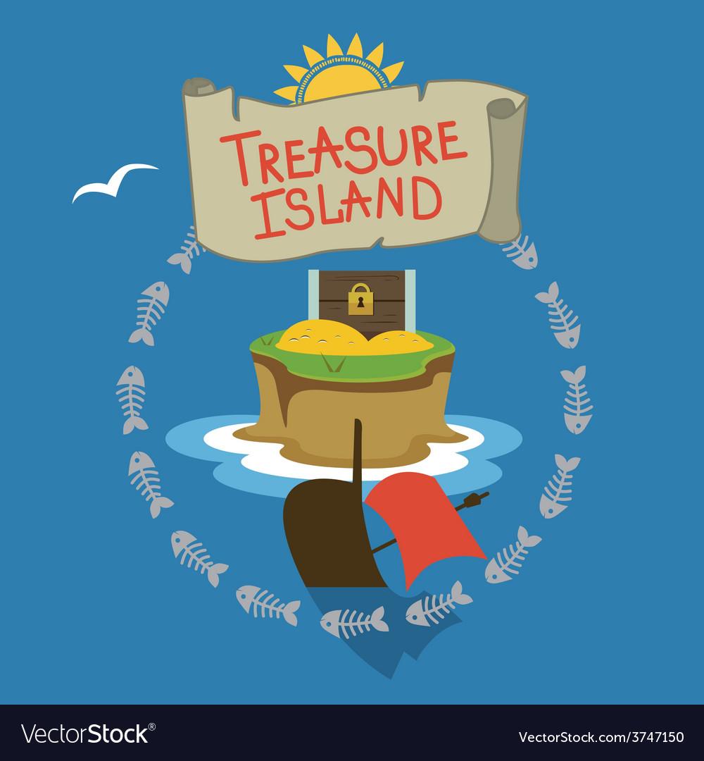 Treasure island design vector | Price: 1 Credit (USD $1)