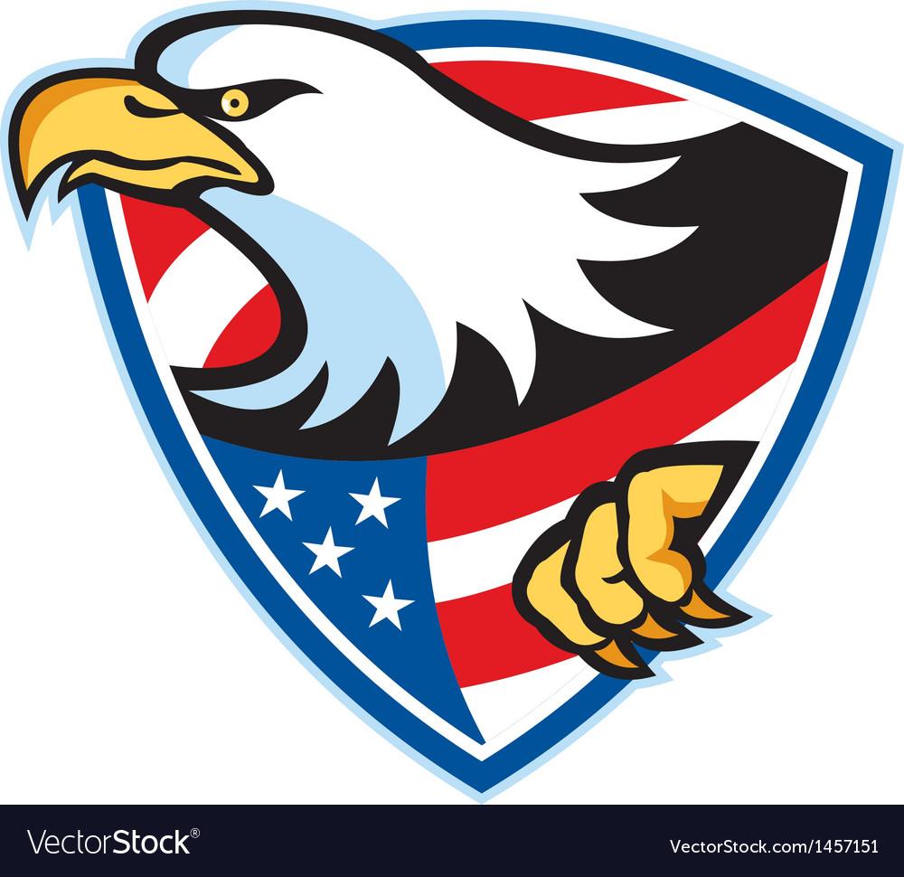 American bald eagle flag shield vector | Price: 1 Credit (USD $1)