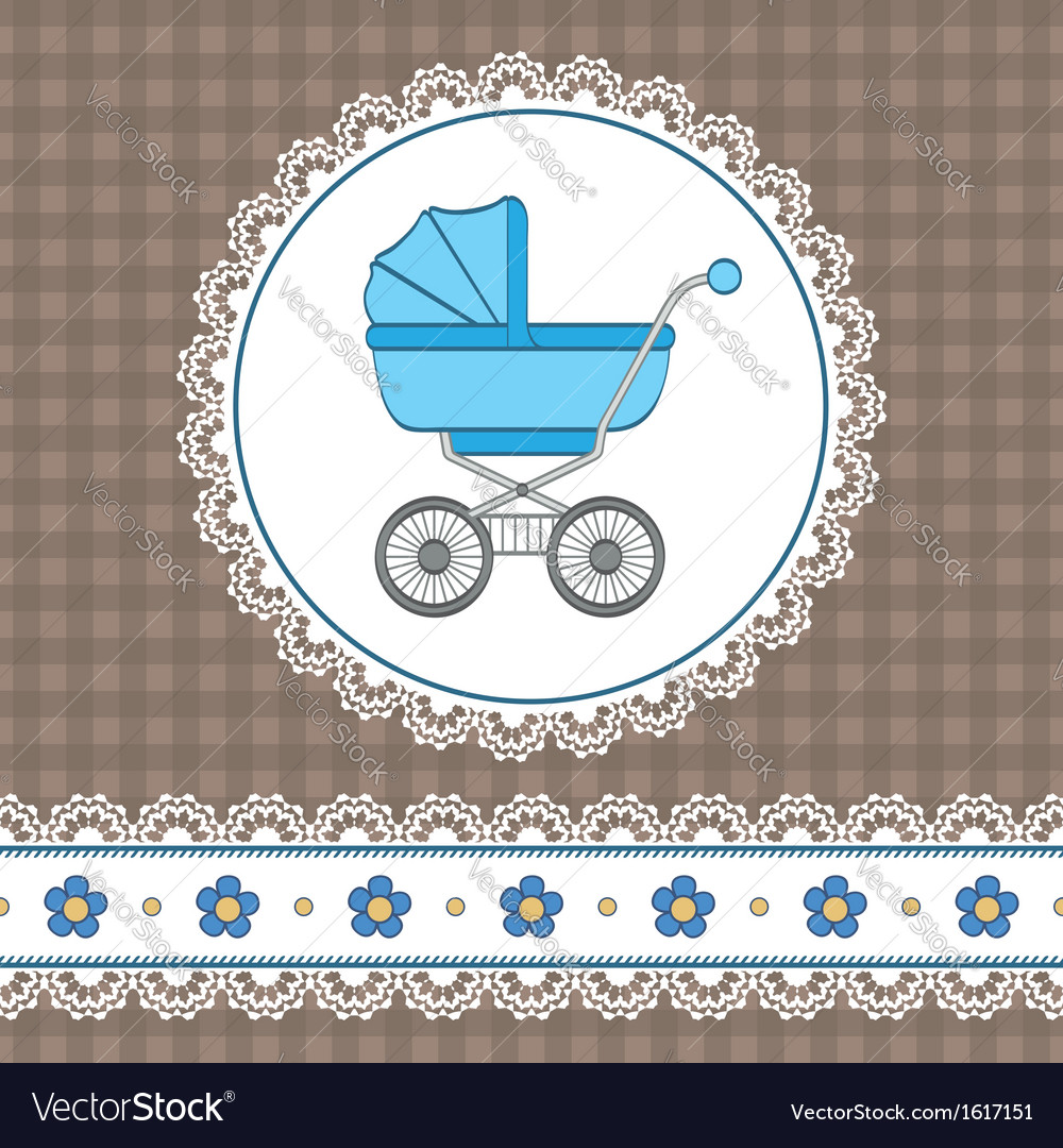 Baby boy shower vector | Price: 1 Credit (USD $1)