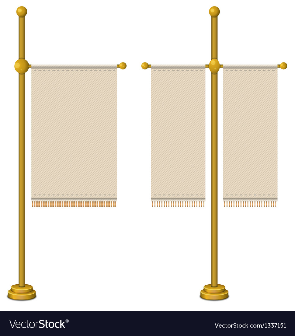 Flags on gold pole vector | Price: 1 Credit (USD $1)