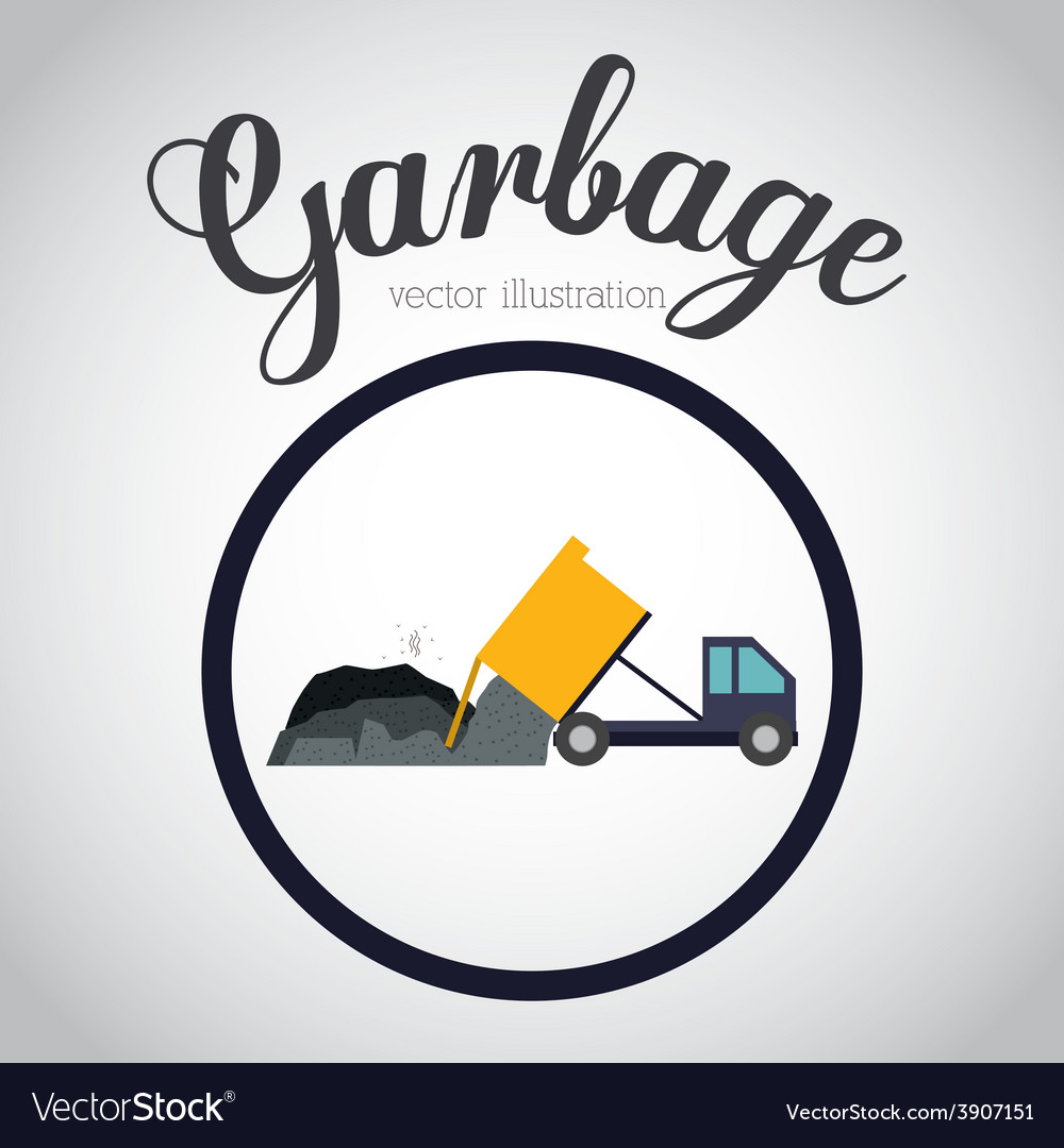 Garbage design over white background vector | Price: 1 Credit (USD $1)
