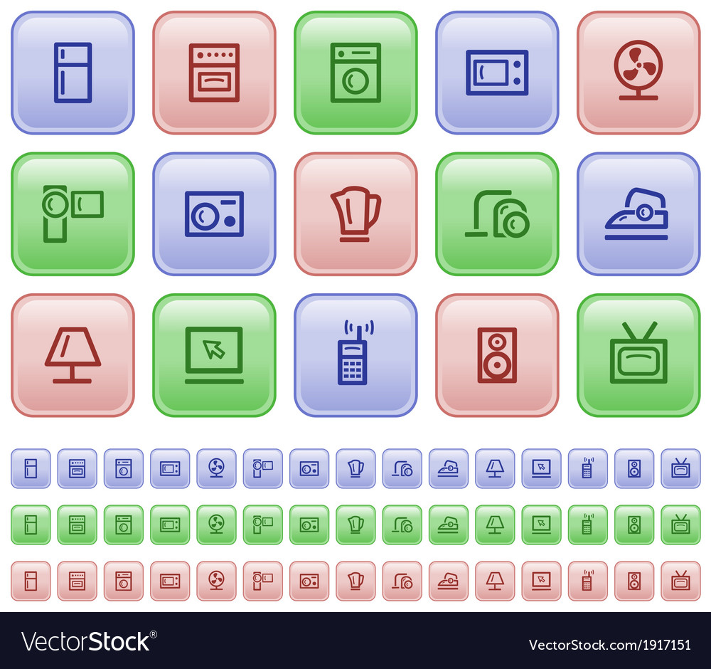 Home electronics buttons vector | Price: 1 Credit (USD $1)