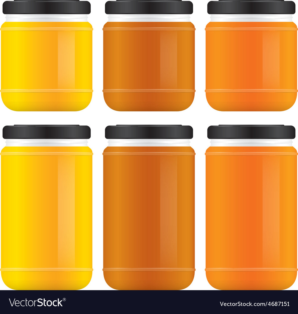 Honey jars vector | Price: 1 Credit (USD $1)