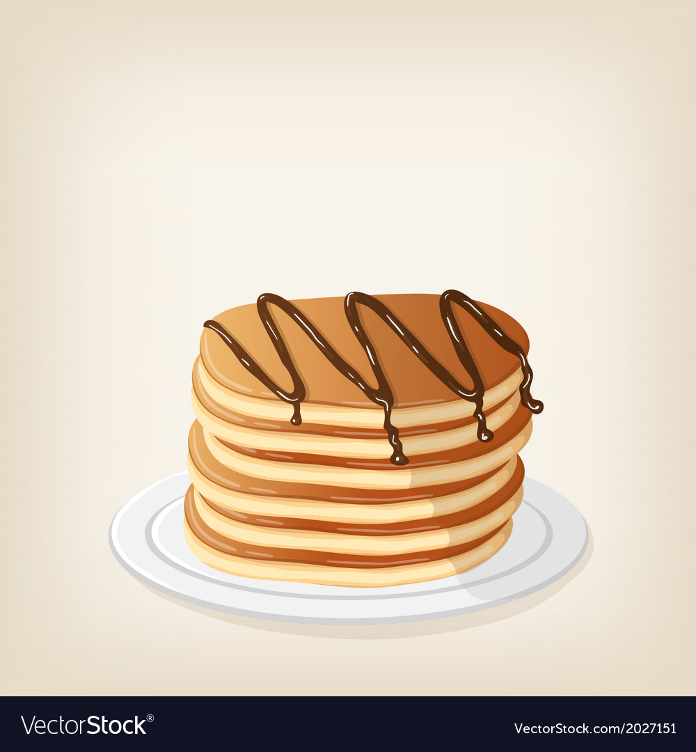Pancakes with chocolate vector | Price: 1 Credit (USD $1)