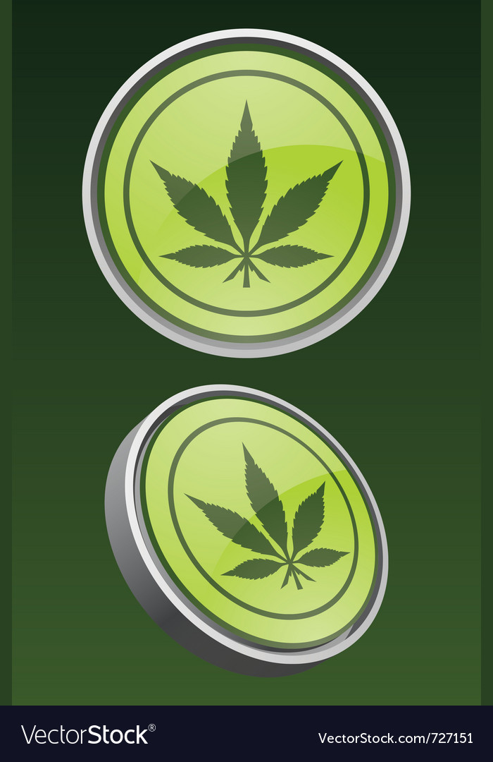 Pot leaf icon vector | Price: 1 Credit (USD $1)