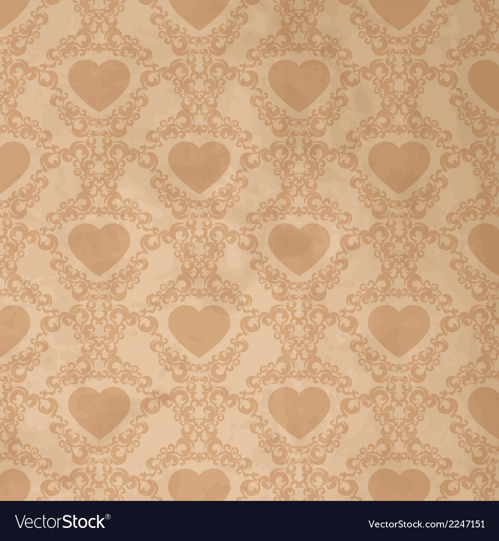 Vintage background with heart vector | Price: 1 Credit (USD $1)