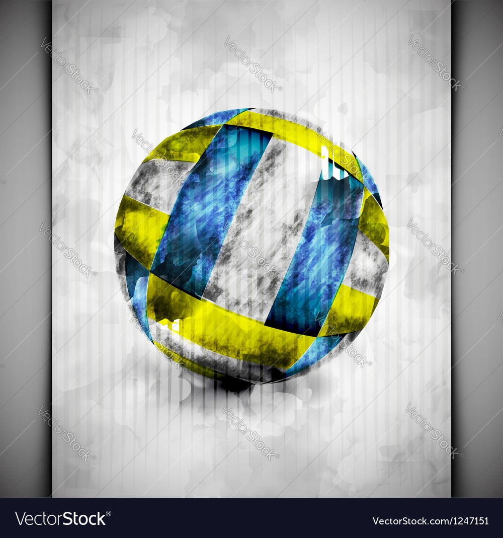 Volleyball ball watercolor vector | Price: 1 Credit (USD $1)