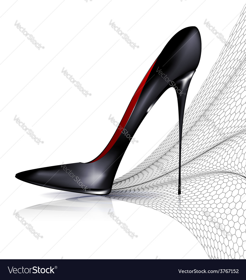 Black shoe and veil vector | Price: 1 Credit (USD $1)