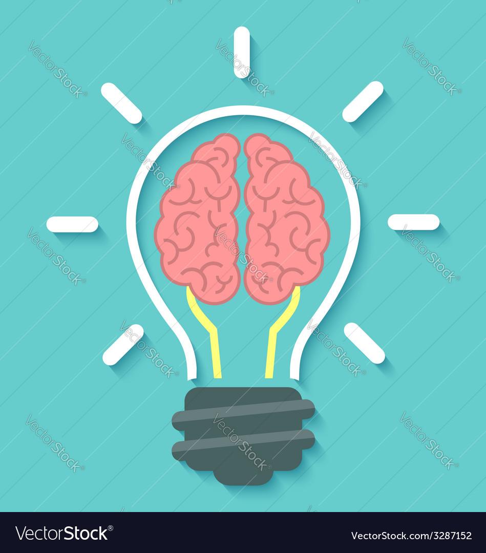 Brain and idea concept vector | Price: 1 Credit (USD $1)