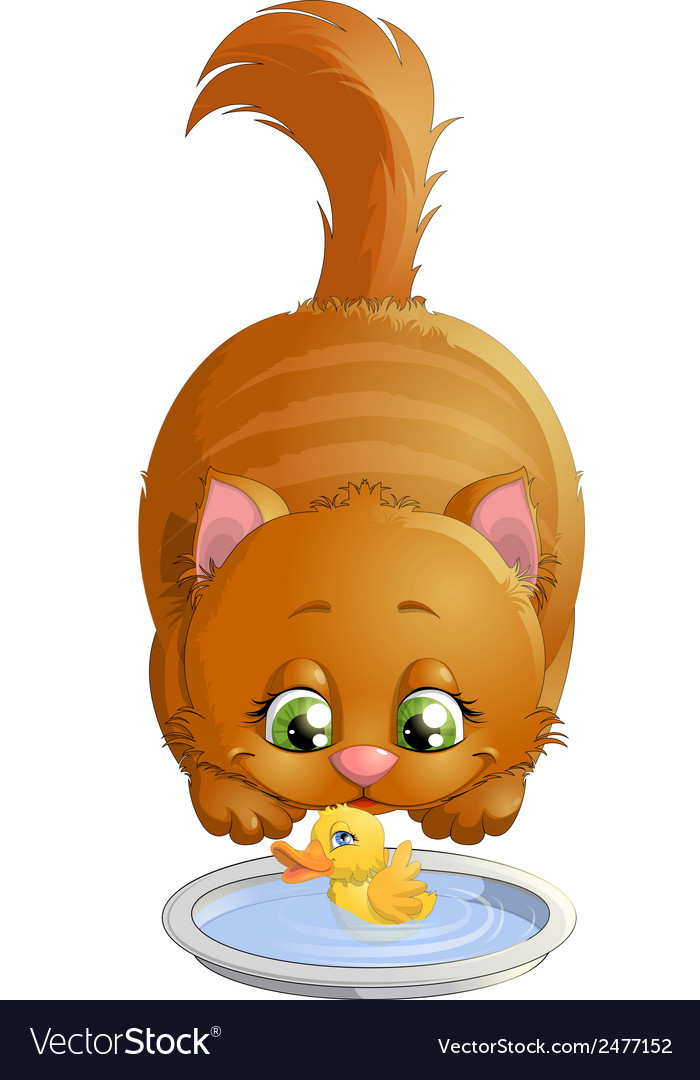 Cat and duck vector   Price: 1 Credit (USD $1)