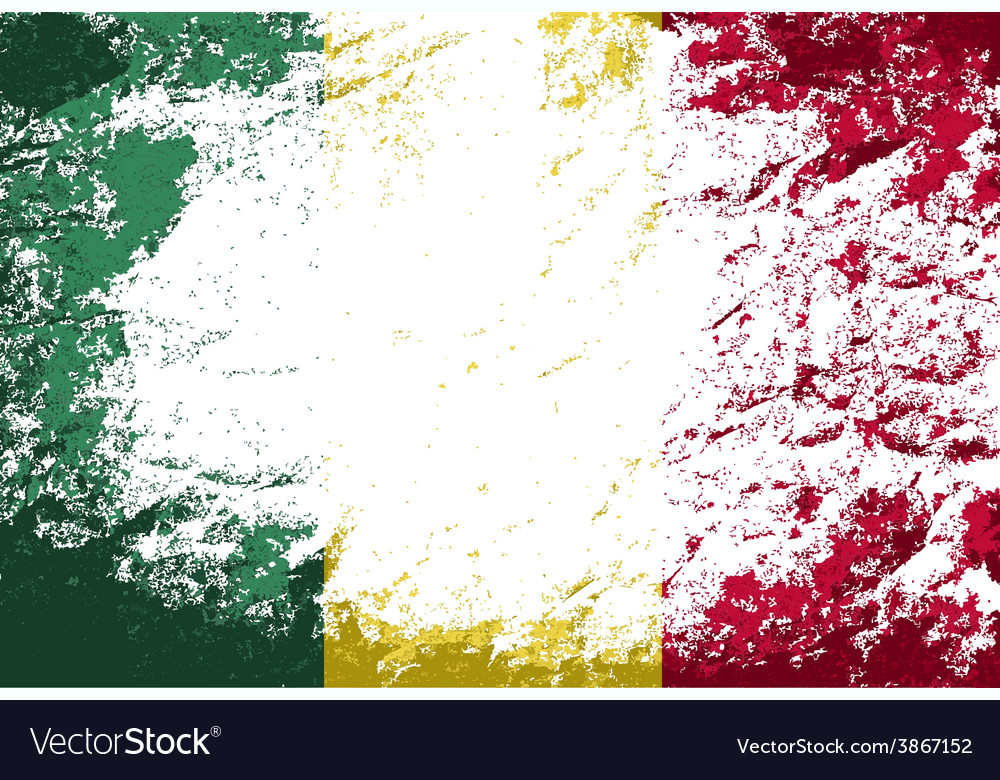 Malian flag grunge background vector | Price: 1 Credit (USD $1)