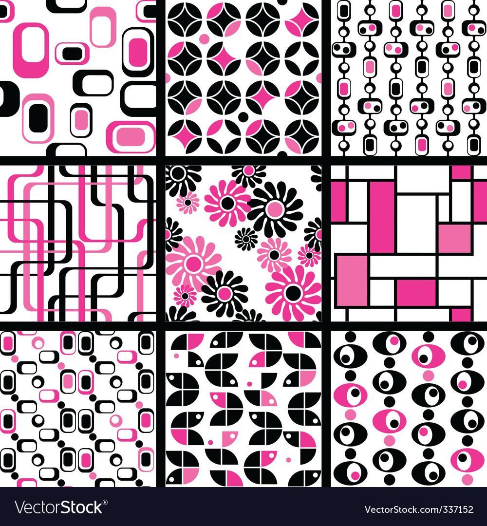 Modern seamless patterns vector | Price: 1 Credit (USD $1)