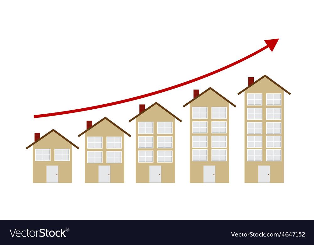 Rising housing market concept vector   Price: 1 Credit (USD $1)