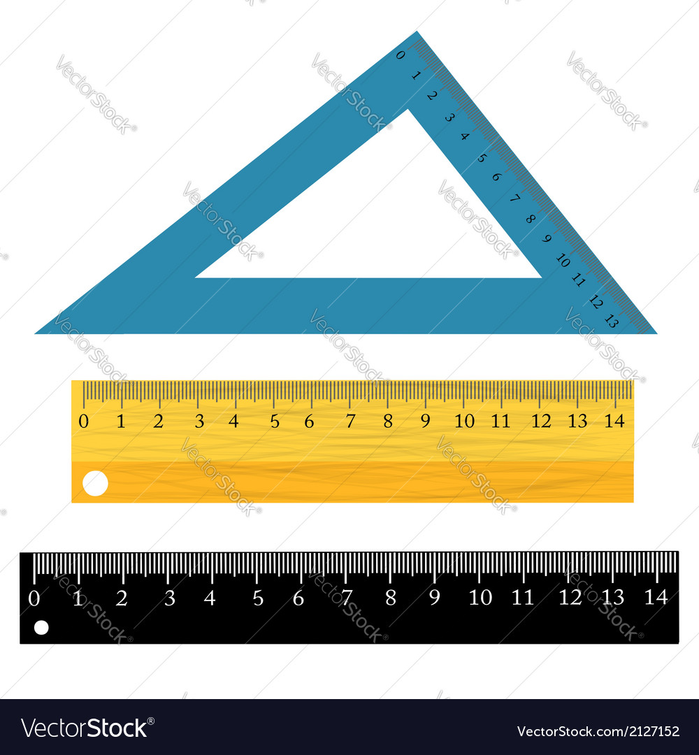 Set of rulers vector | Price: 1 Credit (USD $1)