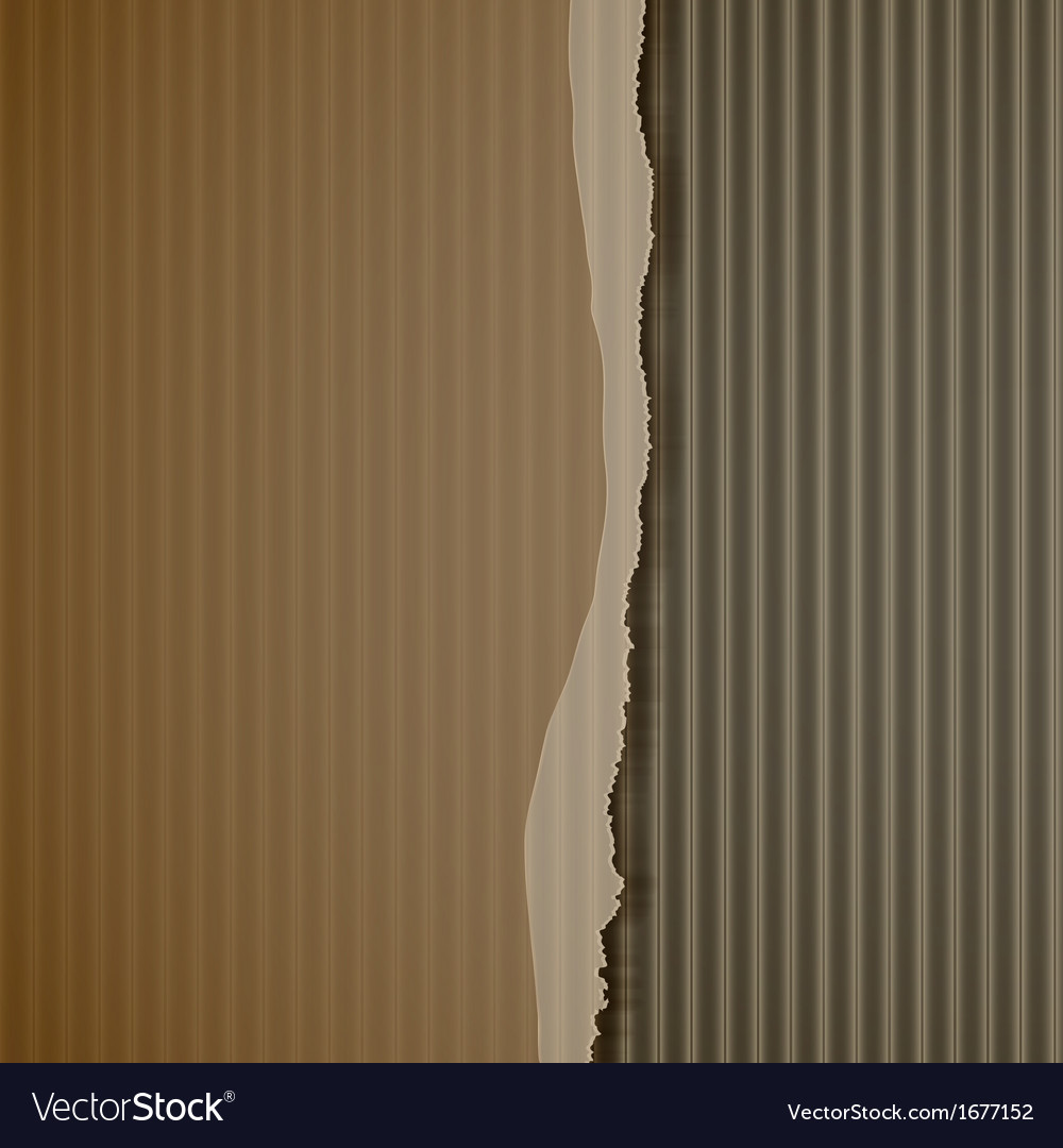 Torn corrugated cardboard vector | Price: 1 Credit (USD $1)