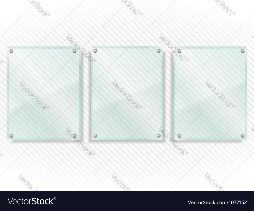 Transparent glass frames vector | Price: 1 Credit (USD $1)