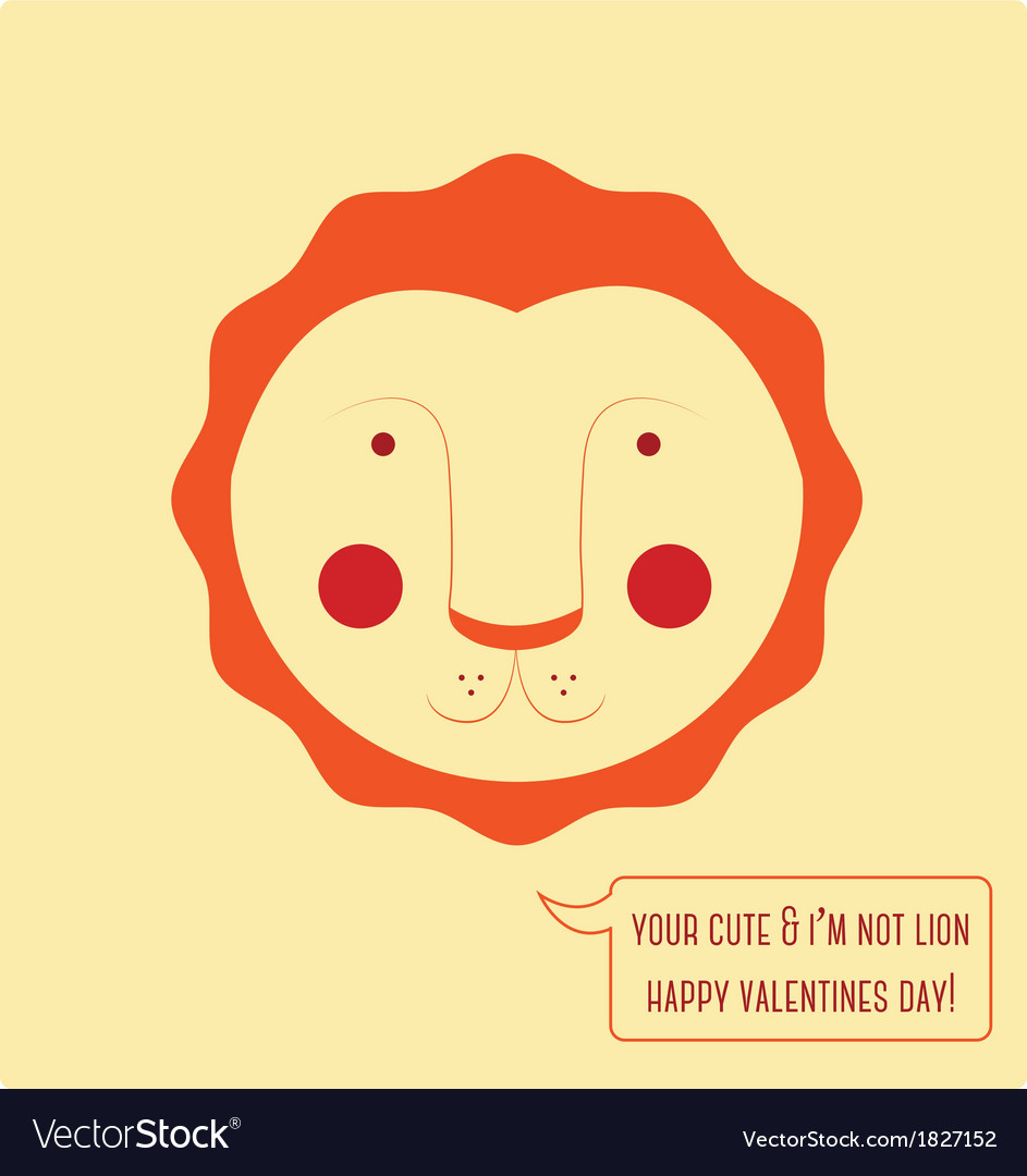 Valentines day lion vector | Price: 1 Credit (USD $1)