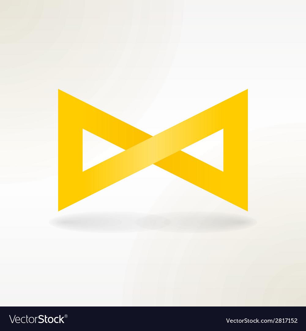 Yellow infinity symbol vector | Price: 1 Credit (USD $1)