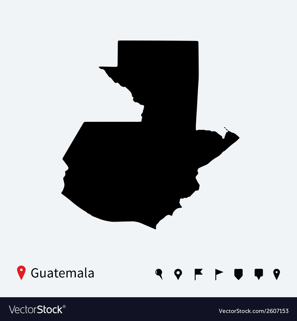 High detailed map of guatemala with navigation vector | Price: 1 Credit (USD $1)