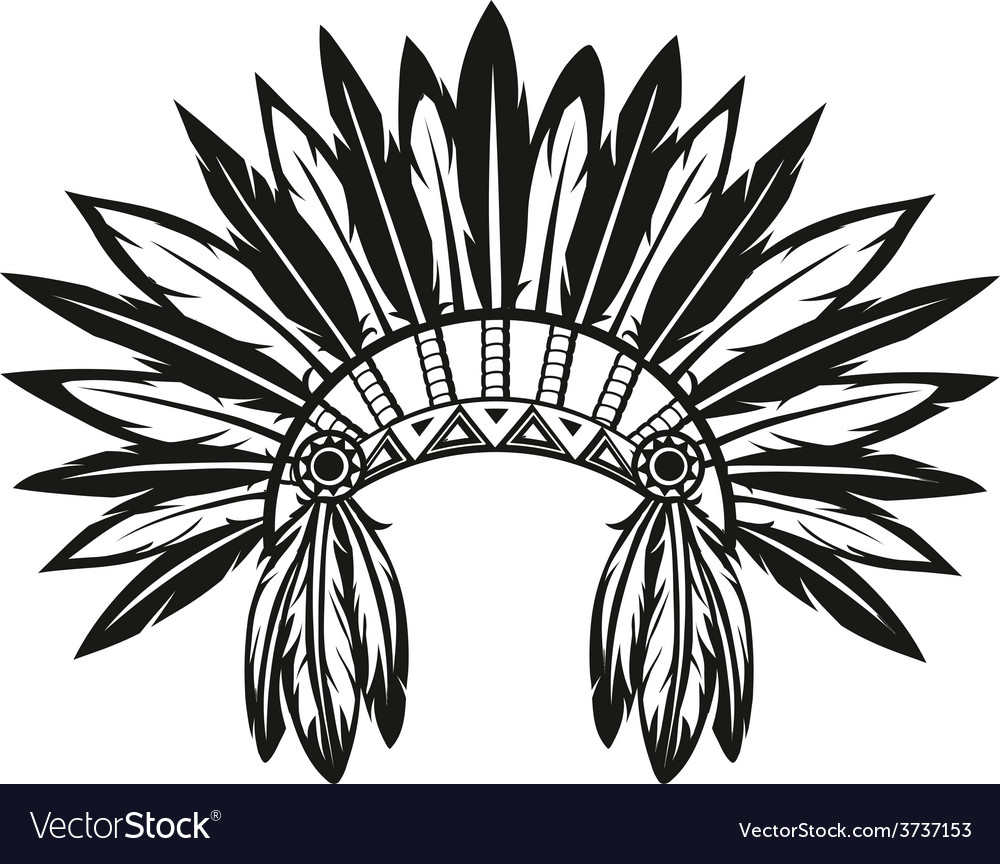 Indian headdress vector | Price: 1 Credit (USD $1)