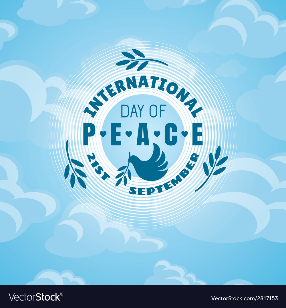 International day of peace background vector | Price: 1 Credit (USD $1)