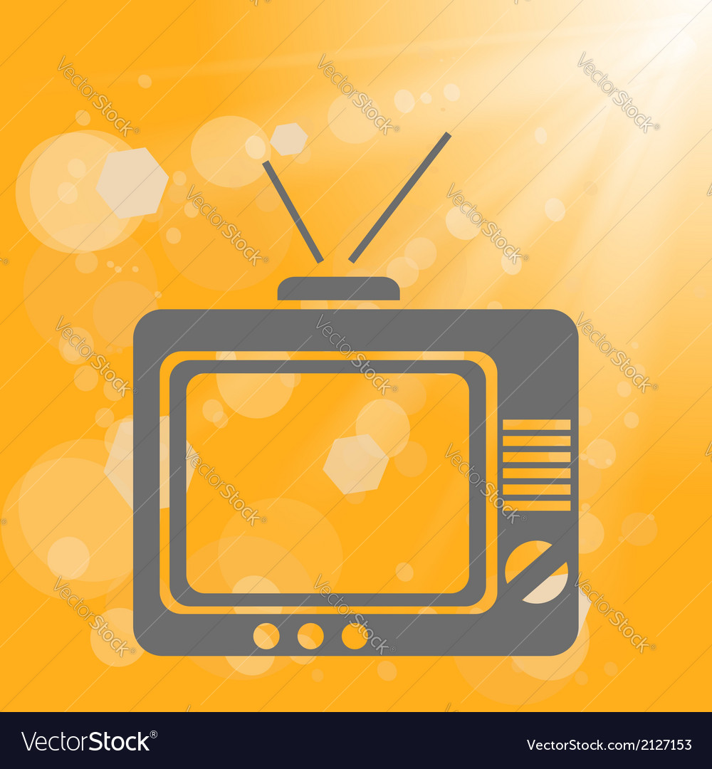 Old tv on a yellow background vector | Price: 1 Credit (USD $1)