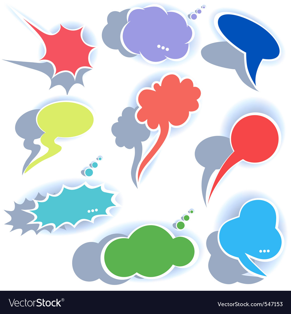 Origami speech bubble dialog cloud vector il vector | Price: 1 Credit (USD $1)