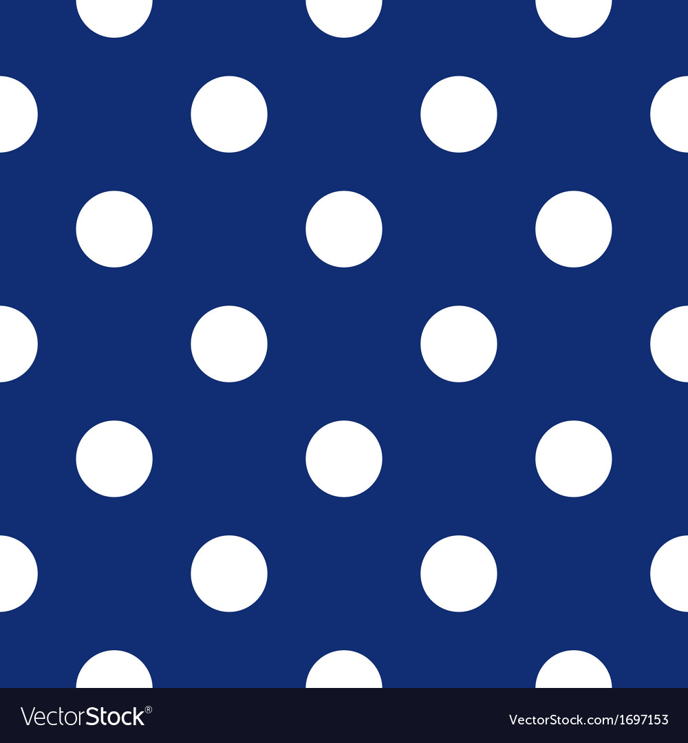 Seamless dark blue pattern with white polka dots vector | Price: 1 Credit (USD $1)