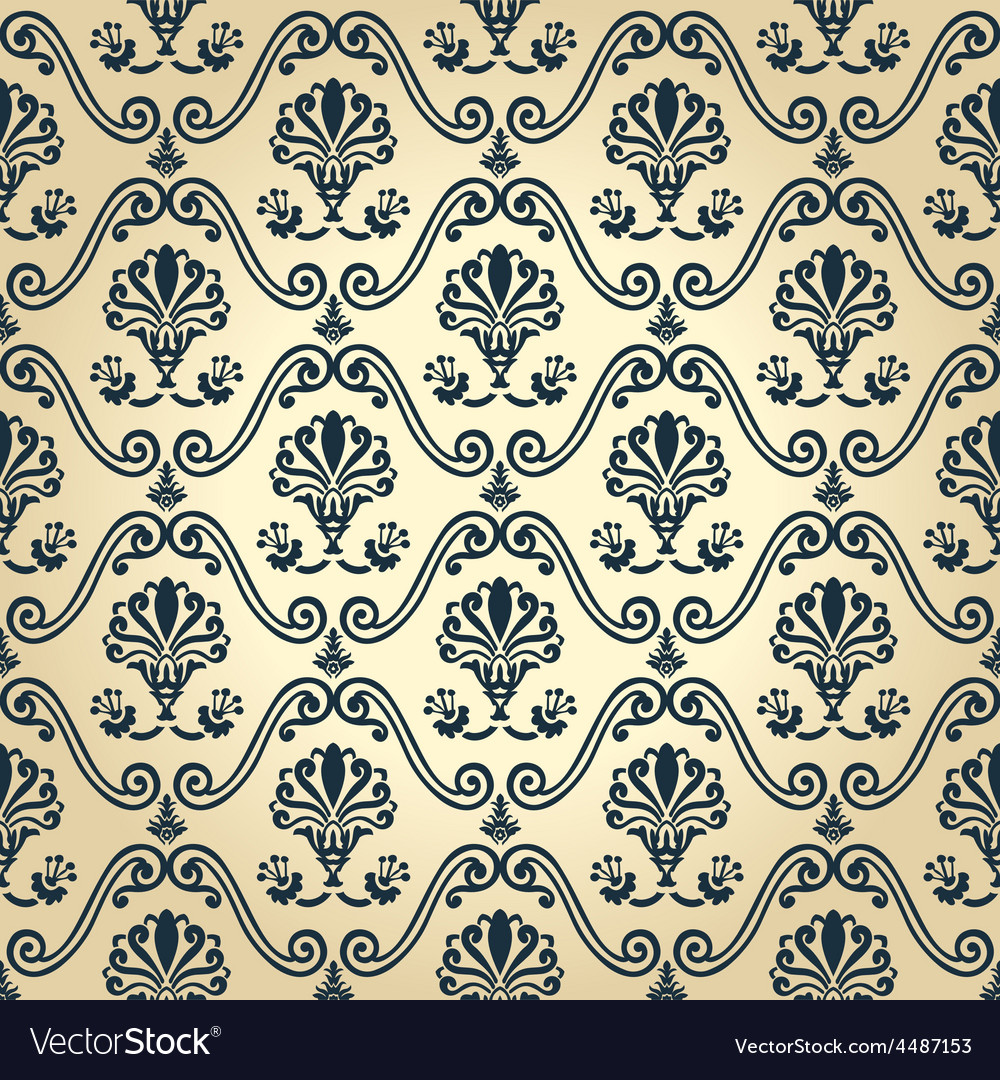 Seamless wallpaper decor vintage abstract vector | Price: 1 Credit (USD $1)