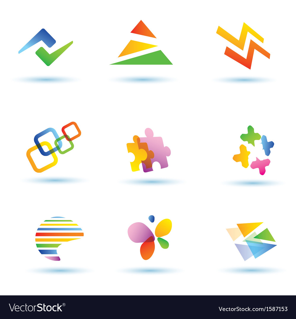 Set of abstract icons logo templates vector | Price: 1 Credit (USD $1)