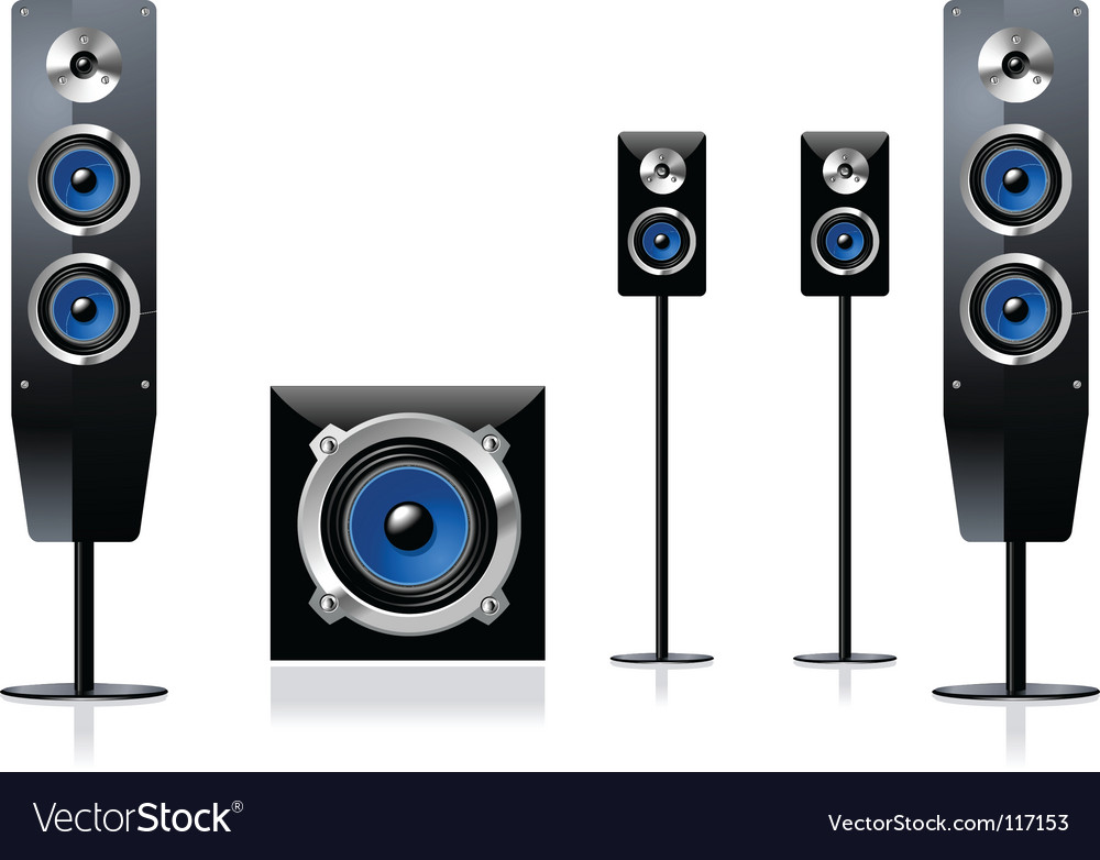 Speaker set vector | Price: 1 Credit (USD $1)
