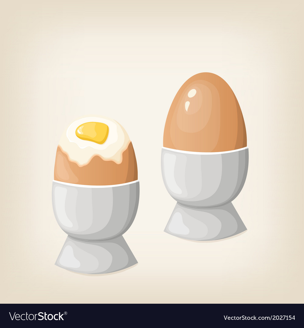 Breakfast boiled eggs vector | Price: 1 Credit (USD $1)