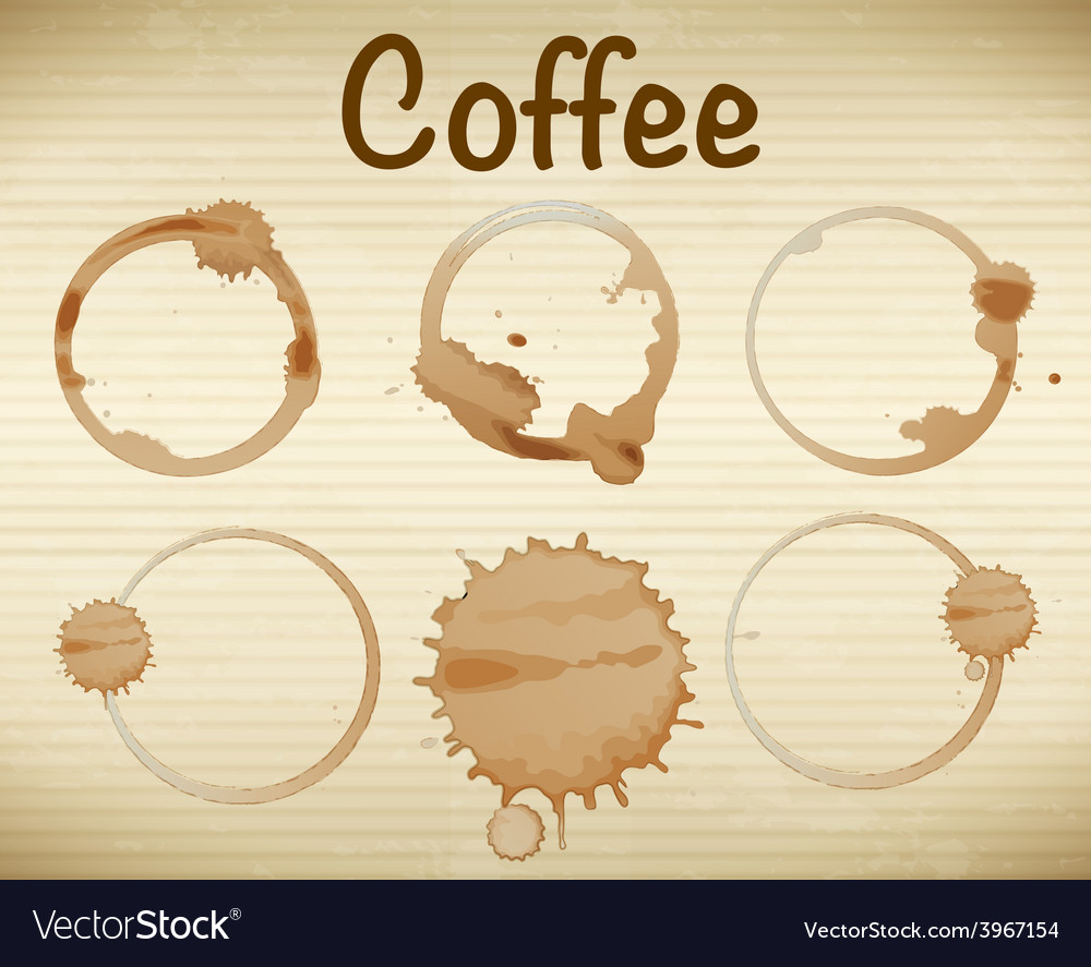Coffee stains vector   Price: 1 Credit (USD $1)