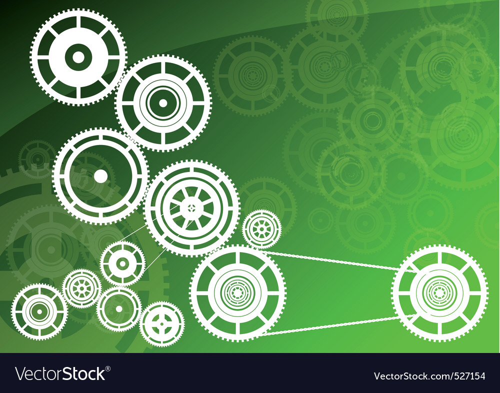 Green machinery vector | Price: 1 Credit (USD $1)